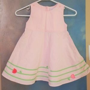 Gymboree Pink Tip Toe Tulips Dress girls size 3 3t